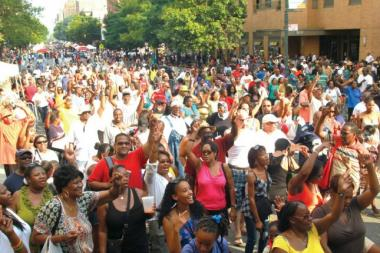 About 2 million people show up for Harlem Week each year.