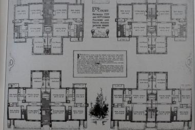 Many real estate experts say that calculating square feet of apartments is an inexact science. There's no public record for square feet of co-ops, for instance. (Pictured, floor plans from Jackson Heights'  Elm Court, built in 1922.)