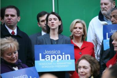 Plumbers Local 1 is backing Upper East Side City Council Member Jessica Lappin in her bid for borough president, the union and politician announced earlier this week.