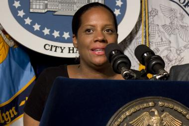 Councilwoman Julissa Ferreras speaks at a press conference on the National Tennis Center at City Hall Wednesday, July 24, 2013.