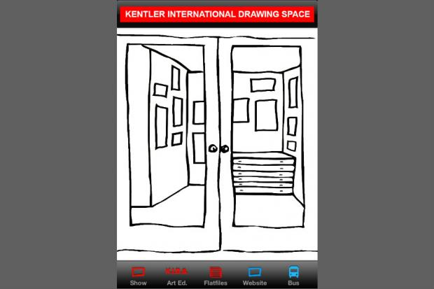 Kentler International Drawing Space recently introduced their new iPhone app which features their upcoming exhibitions and tracks the B61 bus.