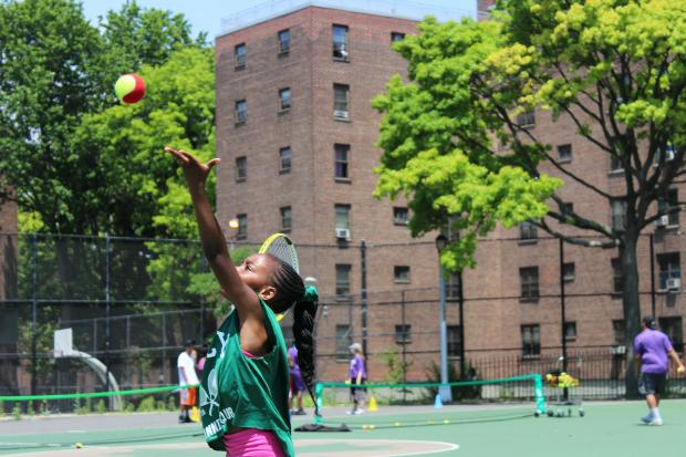 "The Kings County Tennis League held a ""Davis Cup"" tournament for its students on Saturday."