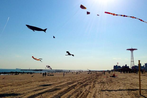 Jose Priego, 46, and his family flew a kite for the first time on July 19, 2013.