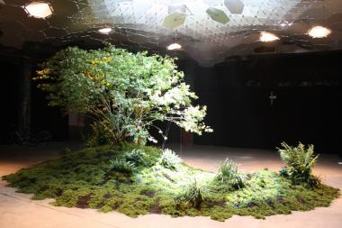 A full-scale model of the proposed Lowline project that would transform an abandoned trolley terminal into an underground park was unveiled inside a vacant Essex Street warehouse Sept. 12, 2012.