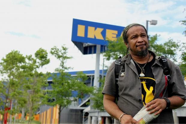Ludger Balan, head of the Urban Divers Estuary Conservancy, said IKEA had their mobile museum towed from the surrounding park.