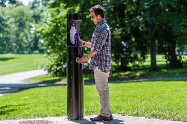 A company called Smart Tap will install six fountains where park users can fill up drinking bottles.