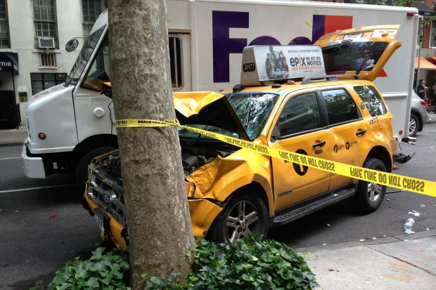 The man was hit just after noon at East 61st Street and Lexington Avenue.