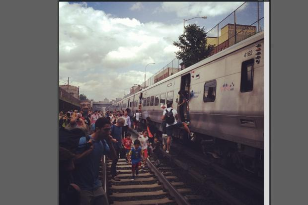 Service has been suspended on the Harlem and New Haven Metro-North Lines on Thursday July 4 2013 because of a fire, MTA officials say.