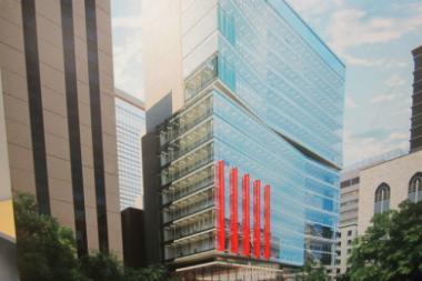 New York-Presbyterian hospital's new building, pictured in this proposed rendering, will be on York Avenue between East 68th and 69th streets.