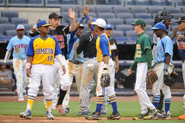 Some of the best public high school baseball players in Chicago and NYC played in a first annual all-star game at Yankee Stadium.
