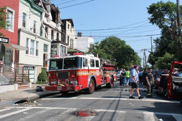 Two children were hospitalized after the Parkchester fire, the FDNY said.