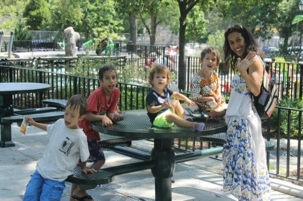 After a year of renovations, Playground 123 reopened Saturday to the delight of parents and kids in Morningside Heights.