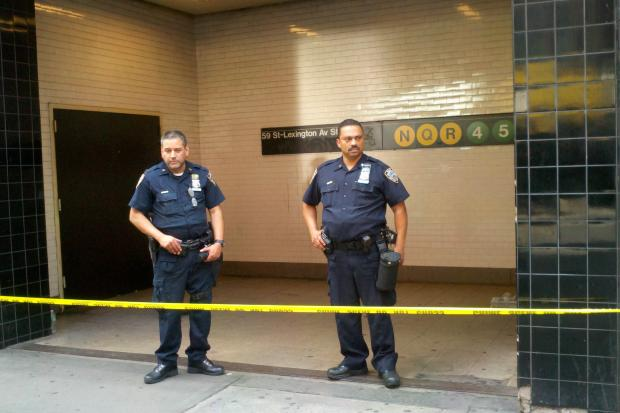 A woman was stabbed multiple times in an Upper East Side subway station Monday July 8, 2013.