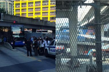 People took to social media to post photos and updates of a Megabus accident that caused long delays.
