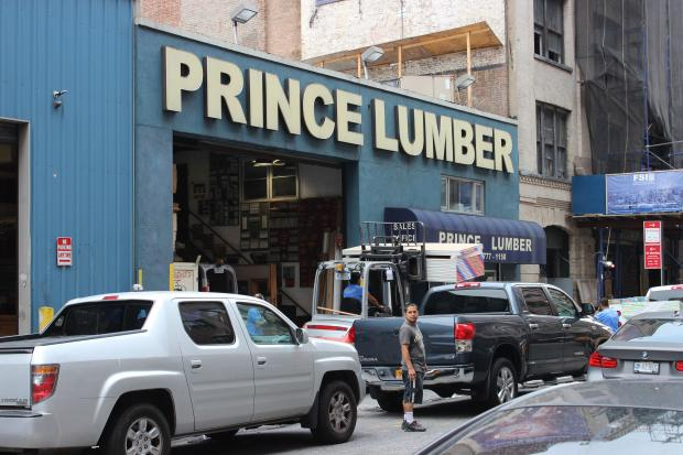 The new 12-story Prince Tower will replace the vaunted Chelsea lumber yard.