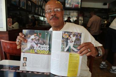 Locals remember Pedro Alvarez as a little boy that always carried a bat and a glove around. Now he is on magazines.