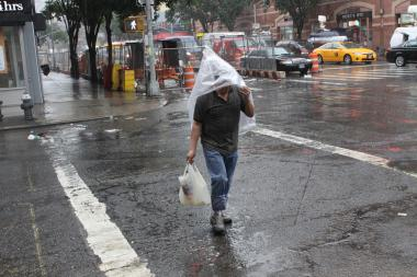 The city could see rain through Sunday, forecasters said.