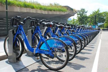 A Citi Bike station in Manhattan. Astoria will now be included in plans to expand the bike-sharing program, state Sen. Michael Gianaris announced.