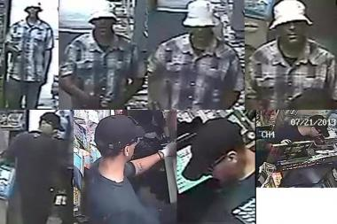The two men robbed shops in Astoria, Sunnyside, Yorkville and several other neighborhoods, cops said.
