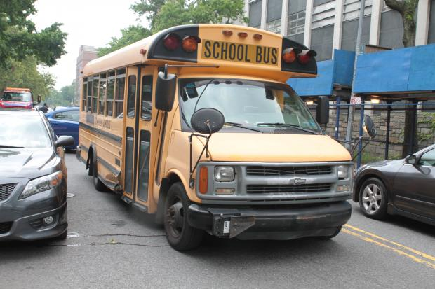 A school bus and a church van collided at the intersection of Winthrop Street and Brooklyn Avenue.