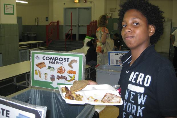 Nearly 300 schools will be composting food by next spring, Department of Education officials said.