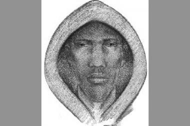 A sketch of a suspect in a recent gunpoint robbery in Forest Hills Gardens.