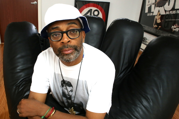 Spike Lee talks about his first crowdfunded film at 40 Acres and a Mule Filmworks headquarters in Fort Greene.
