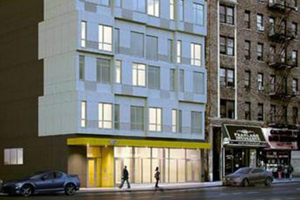 The Stack, a 38,000 square-foot, seven story concrete and steel building at 4857 Broadway, will be the one of city's first modular apartment building.