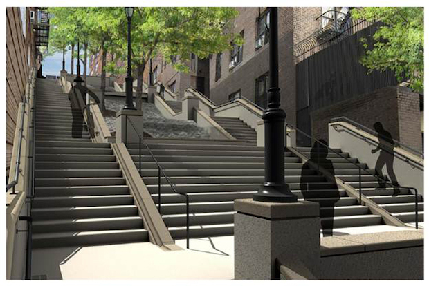 The city awarded a $2.5 million contract to repair the crumbling steps and says work will begin soon.