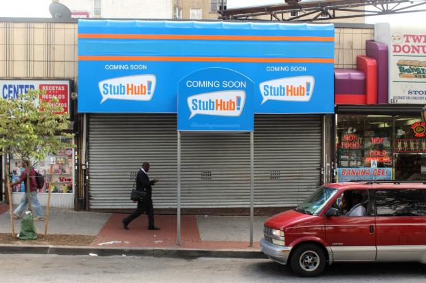 Court documents filed this month say the two sides have discussed the idea of transferring the storefront at 68 E. 161st St. from StubHub to the Yankees.