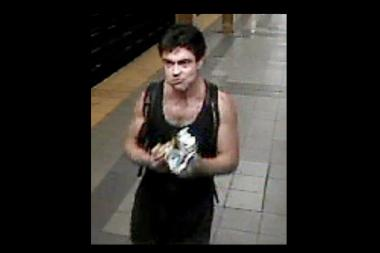 A man who police suspect of kicking a man in the shoulder and hurling anti-gay slurs at him on July 7, 2013.