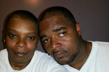 Tyreke Taylor, 35, (R) with his sister Dawn Taylor, 44. Tyreek was shot dead in Harlem early Tuesday.