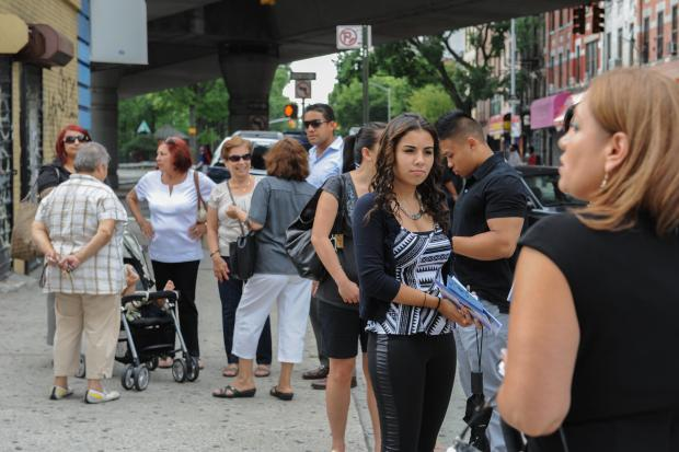 Family and friends gather for slain middle school teacher's wake in Williamsburg, Brooklyn, NY on July 11, 2013