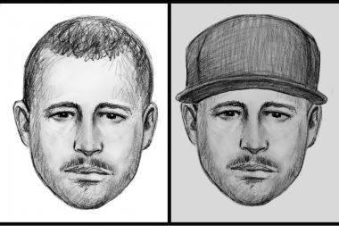 Police released two sketches of the same suspect wanted for forcibly touching five women in Elmhurst subway stations.