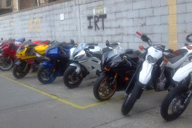 The 34th precinct routinely conducts motorcycle sweeps. The precinct confiscated 12 bikes (Seen here) during a sweep in 2011.