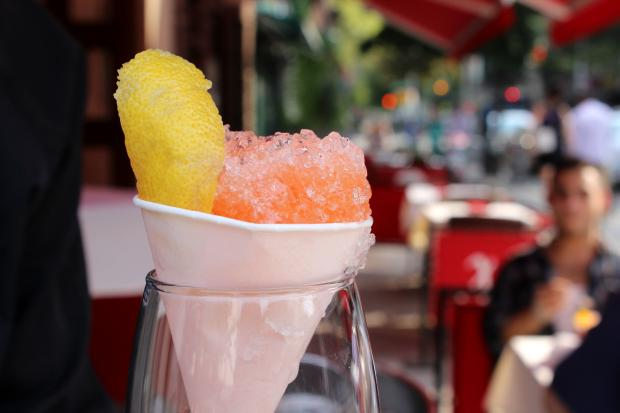 "Marco Polo Ristorante is serving a variety of ""Amaro Snow Cones,"" filled with Italian liqueurs and juices."