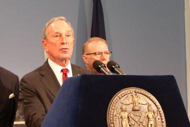 Mayor Michael Bloomberg and the city's law department are asking a federal judge to put a freeze on her own stop-and-frisk decision while they appeal it.