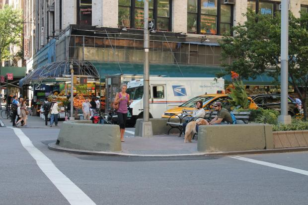 There is a marked improvement in the number of rats at the intersections of Broadway and West 74th and 75th Streets, said City Councilmember Gale Brewer.