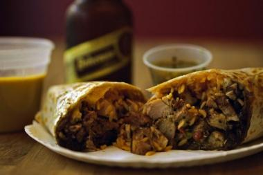 The pollo asada burrito at Calexico. The food cart and restaurant company is expanding into Queens soon with a 10-unit franchise deal.