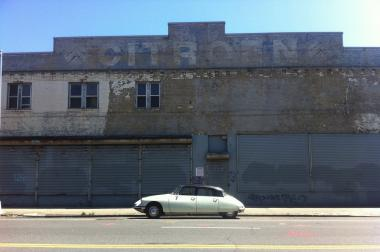 A faded Third Avenue sign for Citroen, the French carmaker, will be painted over.
