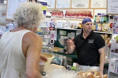 Owner Steven Cottrell named the sandwiches at Papa John's Deli for his customers.