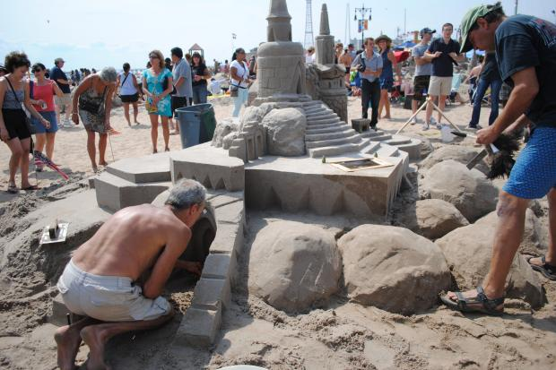 The 23rd annual sand castle competition took place at Coney Island waterfront Saturday. More than 50 teams participated in the competition, which drew tourists and native New Yorkers in with the magical and imaginative creations of the amateur sand sculptors that were competing for a top prize of $400.