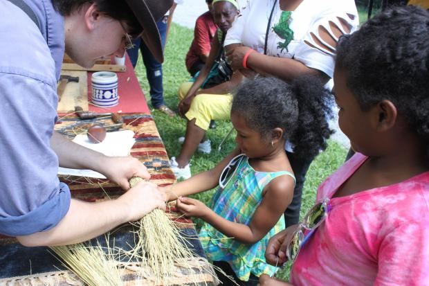 Artisans will demonstrate crafts of the 1800s in Rufus King Park this weekend.