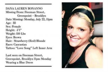 Dana Lauren Bonanno went missing from her home in Greenpoint the night of July 22.