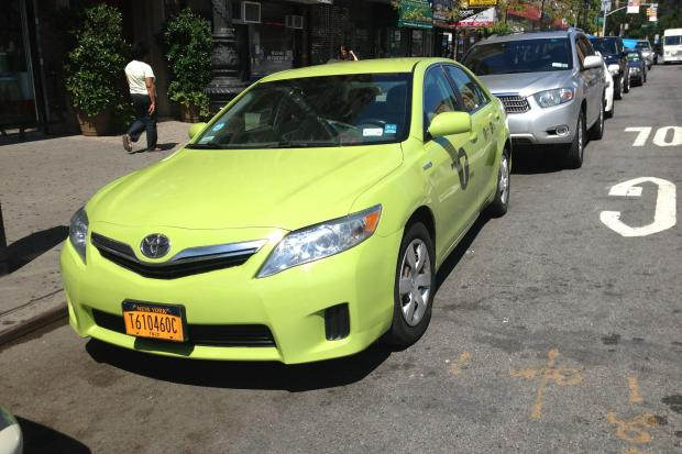 The green cabs have been spotted in Inwood and Harlem even thought the program has not launched yet.