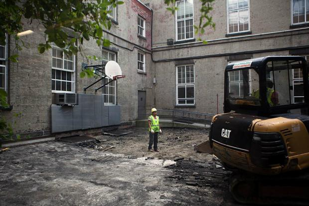 Friends Seminary is renovating its beloved courtyard and adding a new faculty center in time for fall.