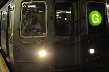 The G train in New York City on Aug. 1, 2013.