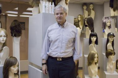 George Mayer, president of Jacquelyn International Fashion Products in Midtown, is offering a $150 discount to any customer seeking a wig as a result of a medical condition.