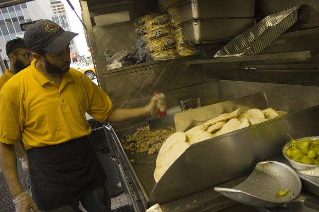 "The Halal Guys in Midtown were filmed for an episode of the Travel Channel's ""Bizarre Foods."" The episode is expected to air by the end of 2013, a channel spokeswoman said."