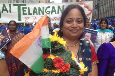 New Yorkers filled Madison Avenue to celebrate the anniversary of India's independence from Britian.